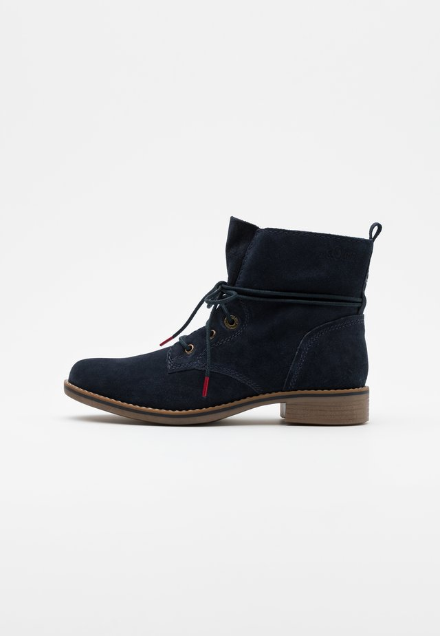 WOMS  - Lace-up ankle boots - navy