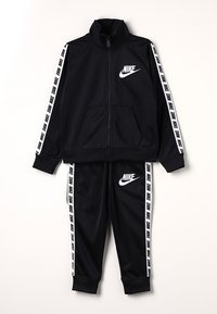 Nike Sportswear - NIKE BLOCK TAPING TRICOT SET - Tracksuit - black - 0