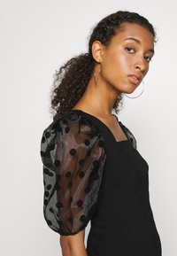 River Island - DOTTED ORGANZA SLEEVE BLOUSE - Camicetta - black - 4