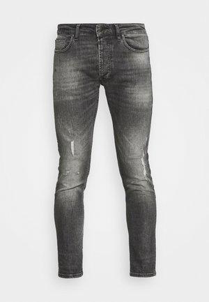 MORTEN DESTROYED - Slim fit jeans - mid grey