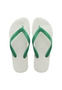 Havaianas - TRADICIONAL - Pool shoes - white, green - 2