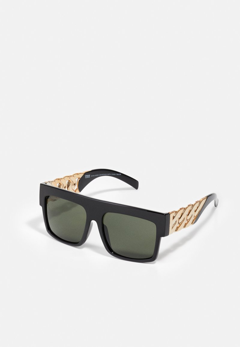 Urban Classics - SUNGLASSES ZAKYNTHOS WITH CHAIN - Sunglasses - black/gold-coloured