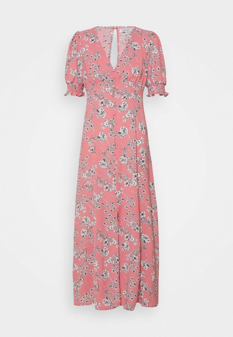 Glamorous Tall - PUFF SLEEVE PLUNGE FLARED DRESS - Maxi dress - peach