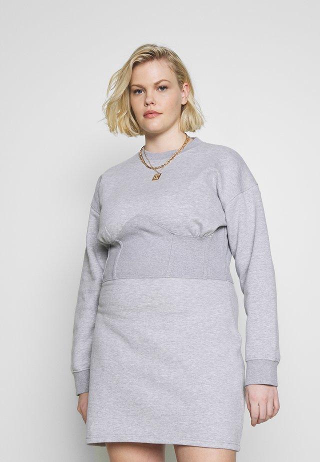 CORSET DRESS - Denní šaty - grey marl