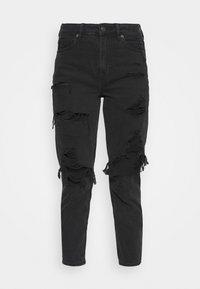 American Eagle - Slim fit jeans - destroyed black - 4