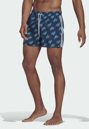 GRAPHIC SWIM SHORTS - Swimming shorts - blue