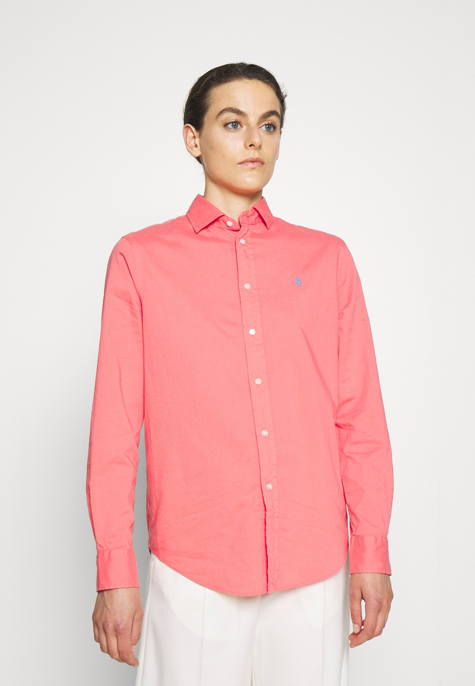 Women RELAXED LONG SLEEVE BUTTON FRONT SHIRT - Button-down blouse
