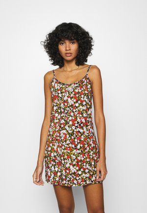 CAMI DRESS  FEMME - Jerseykjoler - dark red/green