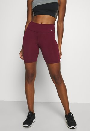 ONE SHORT - Leggings - dark beetroot/white