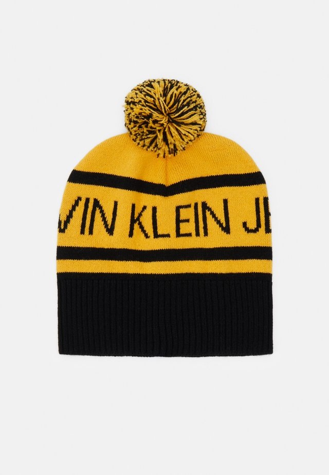 INSTITUTIONAL LOGO BEANIE UNISEX - Lue - yellow