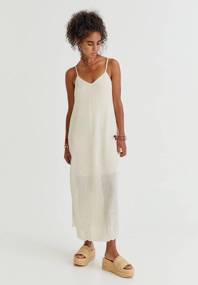 MIT LOCHMUSTER - Korte jurk - mottled beige