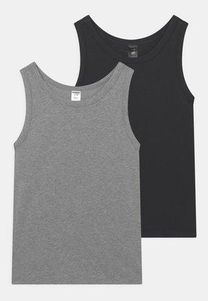 ORGANIC COTTON TEENS 2 PACK - Undershirt - dark blue/mottled grey