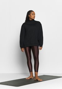 Filippa K - OVERSIZED BRUSHED  - Mikina - black - 1