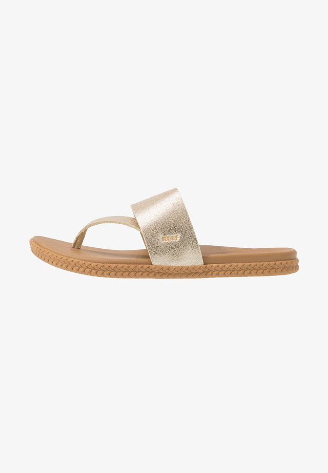 CUSHION BOUNCE SOL  - Sandály s odděleným palcem - champagne