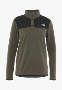 The North Face - GLACIER SNAP NECK  - Felpa in pile - new taupe green/black - 4
