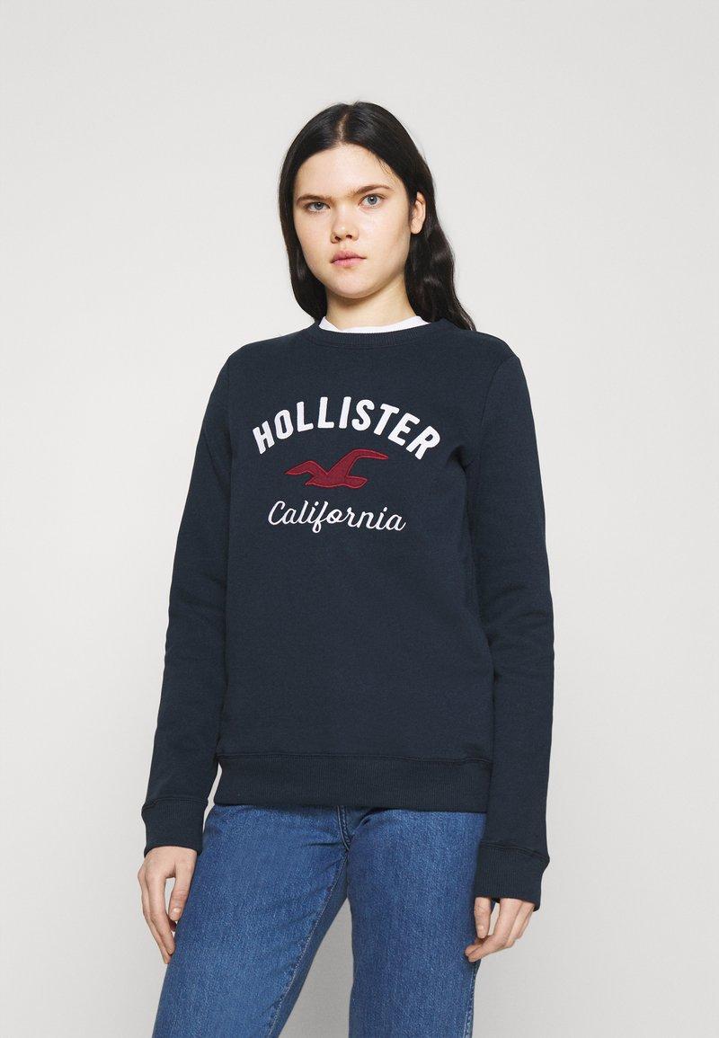 Hollister Co. - LOGO CREW - Sweatshirt - navy