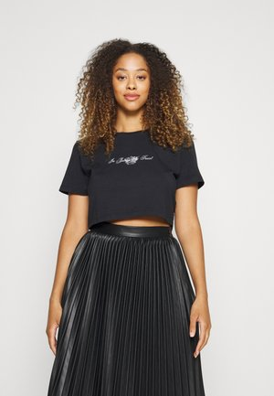 CROWN - T-shirt print - black
