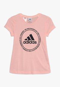 adidas Performance - PRIME TEE - Print T-shirt - glow pink/black - 0