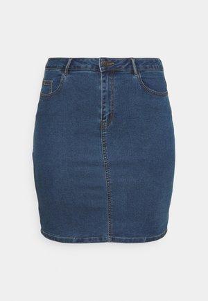 VMHOT PENCIL SKIRT - Mini skirt - medium blue denim