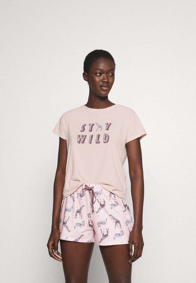 PARTY ANIMALS T-SHIRT WITH SHORTS - Pigiama - pink