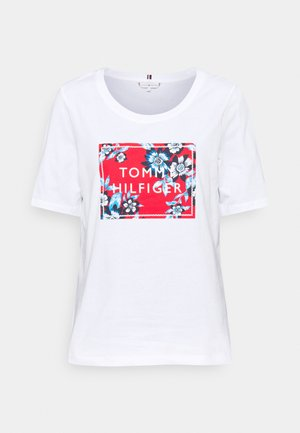 REGULAR BOX OPEN TEE - Print T-shirt - white