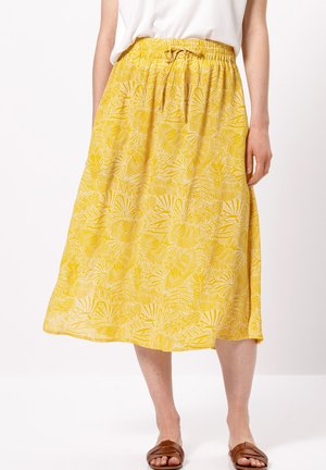 MIT PRINT - A-line skirt - yellow curry