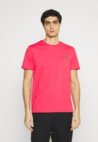 Lyle & Scott - PLAIN - T-shirt - bas - geranium pink - 0