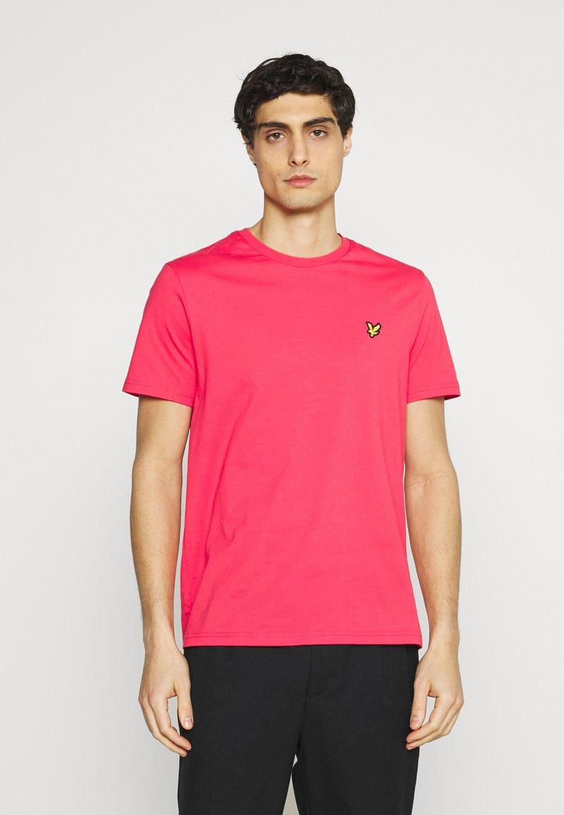 Lyle & Scott - PLAIN - T-shirt - bas - geranium pink