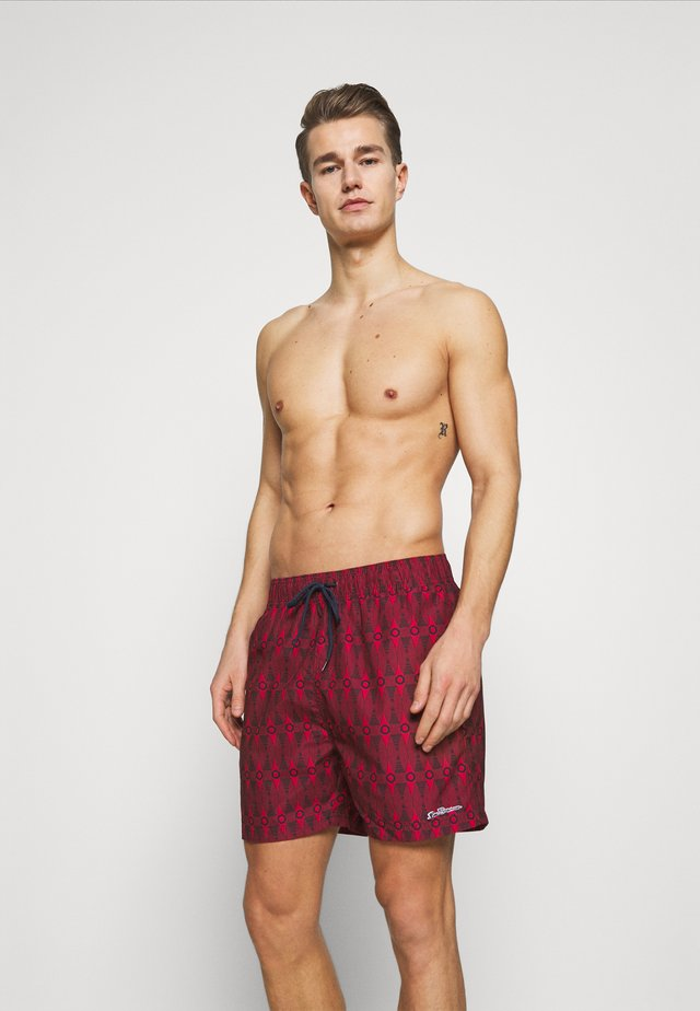SHOAL BAY - Swimming shorts - red