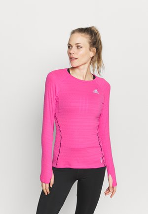ADI RUNNER - Sports shirt - scream pink
