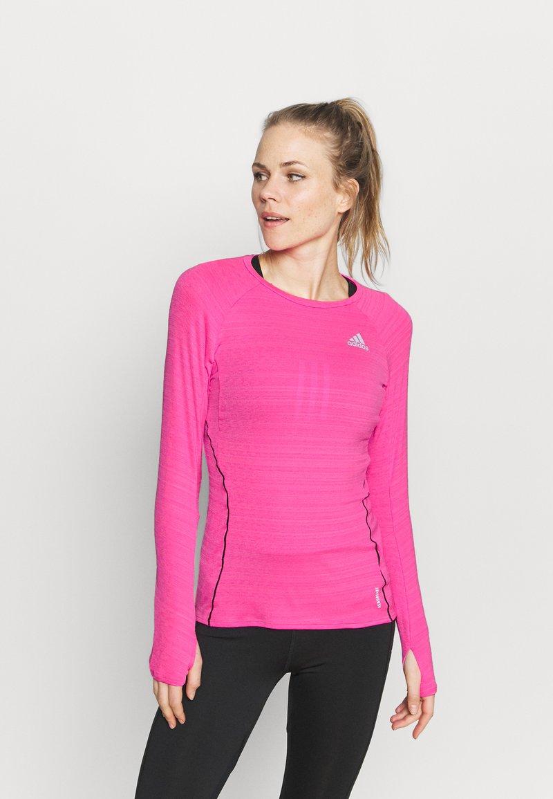 adidas Performance - ADI RUNNER - Funkční triko - scream pink