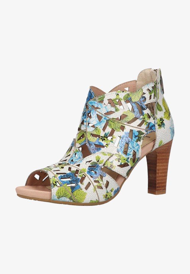 SANDALEN - Sandalen met hoge hak - bleu