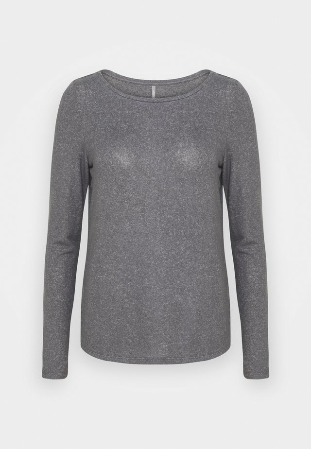 ONLKALA BOAT NECK TOP TALL - Strickpullover - medium grey melange