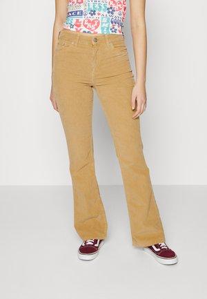 Flared Jeans - bone brown
