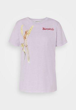 WOODLAND MOUSE FOXGLOVE - Print T-shirt - lilac