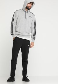 adidas Performance - Mikina s kapucí - medium grey heather/black - 1