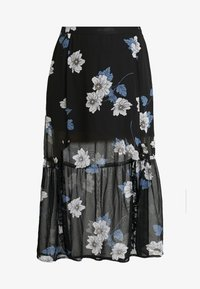 Simply Be - DOUBLE SPLIT GEORGETTE SKIRT - Maxi skirt - black - 4