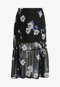 DOUBLE SPLIT GEORGETTE SKIRT - Maxi skirt - black