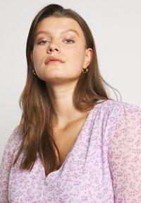Glamorous Curve - SHEER LONGSLEEVE DRESS - Korte jurk - lilac lavender - 3