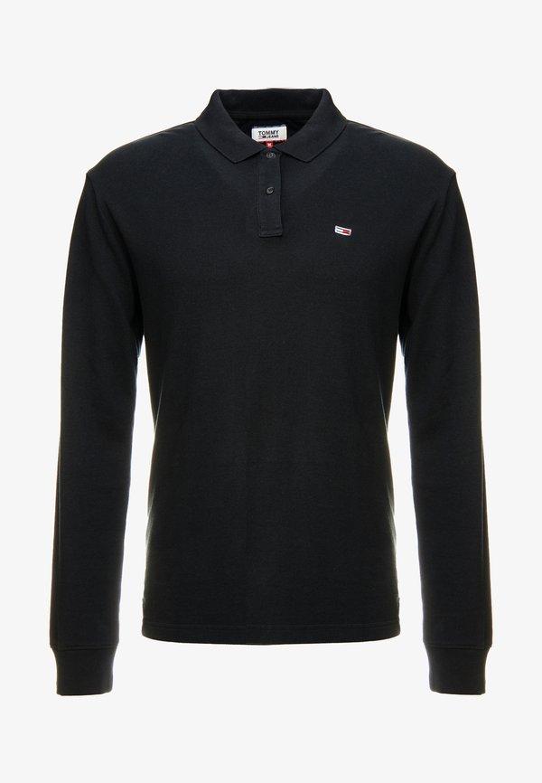 Tommy Jeans CLASSICS LONGSLEEVE - Koszulka polo - black/czarny Odzież Męska SZLJ