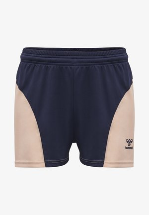 Sports shorts - marine/dusty pink