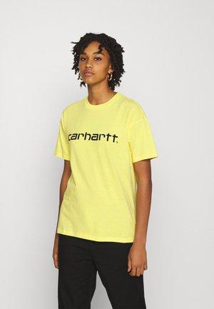 SCRIPT - Camiseta estampada - limoncello/black