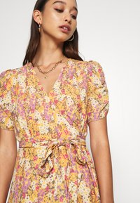 Forever New - TRINA WRAP MINI DRESS - Day dress - dark yellow - 6
