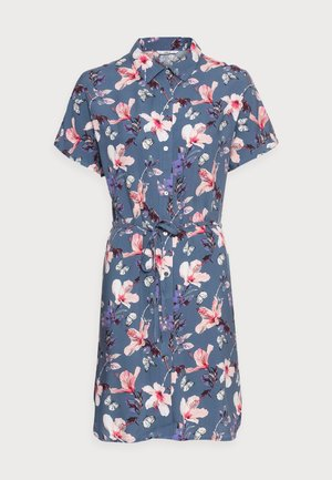 ONLNOVA LIFE SHIRT DRESS  - Day dress - vintage indigo/butterfly floral
