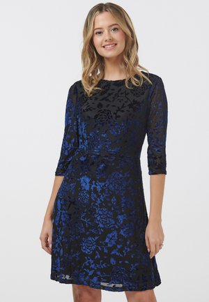 MAEVIS FLORAL DEVOREE - Day dress - black