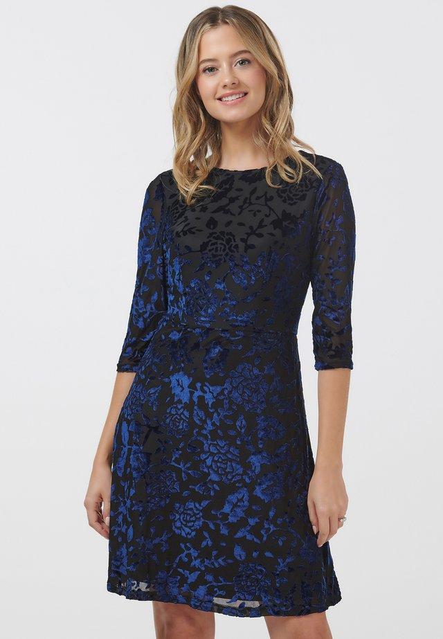 MAEVIS FLORAL DEVOREE - Day dress - black
