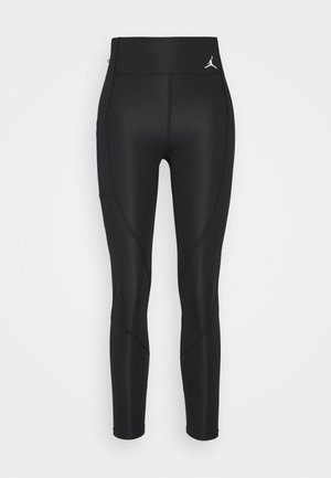 ESSENTIAL - Leggings - Trousers - black/white