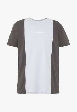 VERTICAL CUT SEW TEE - Camiseta estampada - grey