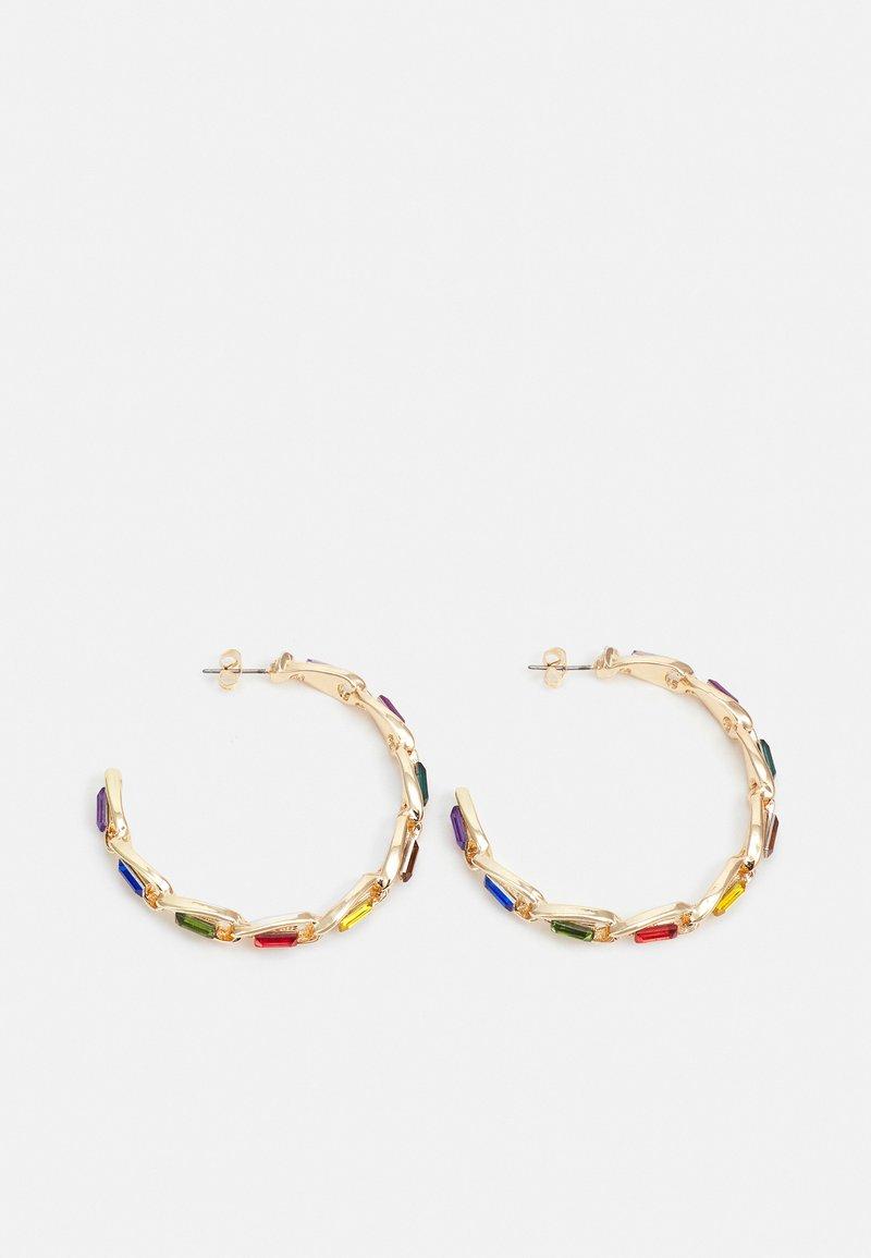 Pieces - PCPEPITA HOOP EARRINGS - Earrings - gold-coloured/multi