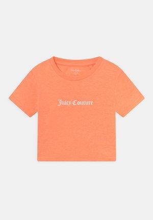 CROP BOXY TEE - Triko spotiskem - summer neon orange